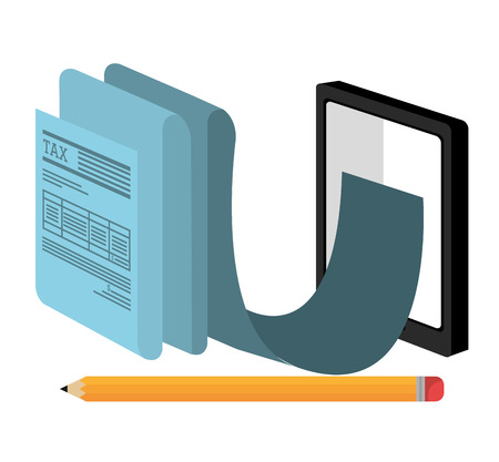 tax office: Taxes icon design, vector illustration eps10 graphic Illustration