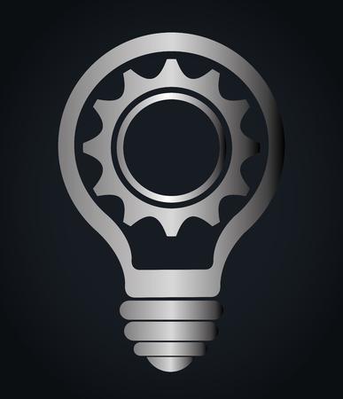 creative idea: Creative big idea graphic design, vector illustration. Illustration