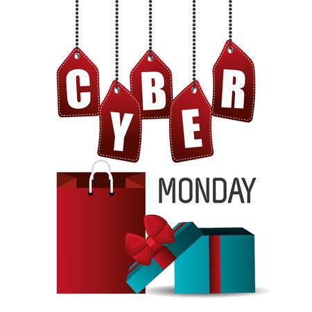 the season: Cyber monday shopping season design, vector graphic.
