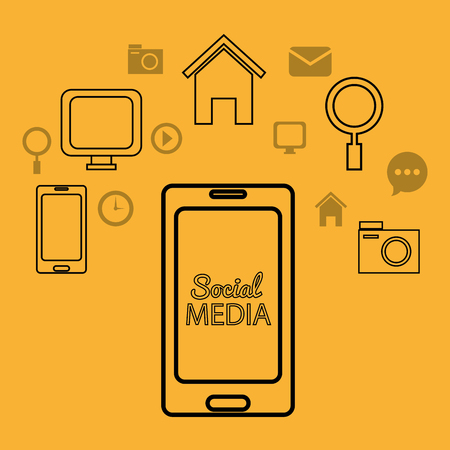 socializing: Social media and networking design, vector illustration. Illustration