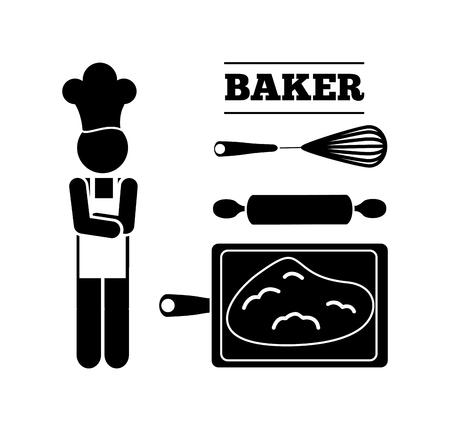 Baker Dienst ontwerp, vectorillustratie eps10 grafische