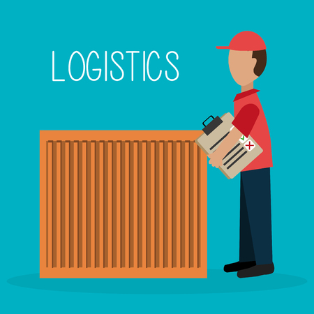 article marketing: Delivery and logistics business graphic design, vector illustration. Illustration