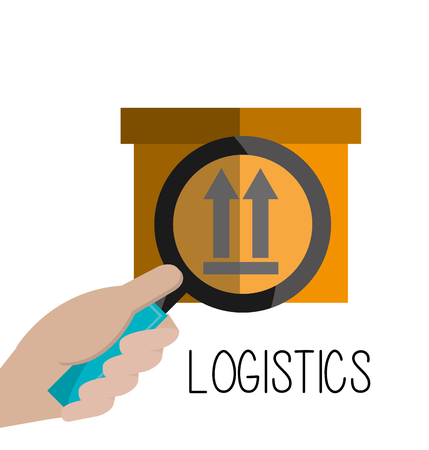 commerce and industry: Delivery and logistics business graphic design, vector illustration. Illustration
