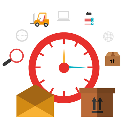 search box: Delivery and logistics business graphic design, vector illustration. Illustration