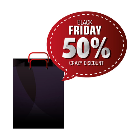the season: Black friday shopping season design, vector illustration