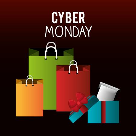 monday: Cyber Monday shopping season design, vector illustration