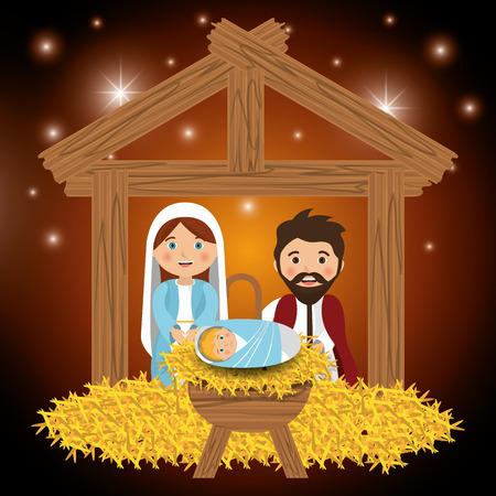 born saint: Merry christmas cartoons, vector illustration graphic eps10