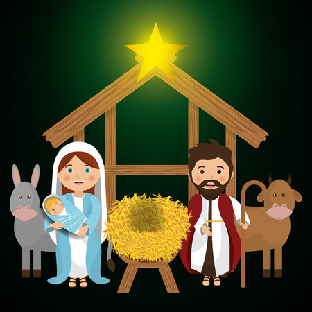 born saint: Merry christmas cartoons, vector illustration graphic eps10