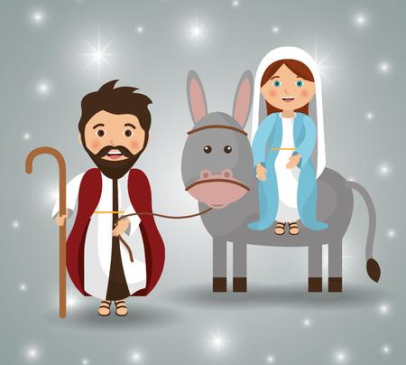 Merry christmas cartoons, vector grafische illustratie eps10 Stockfoto - 46851027