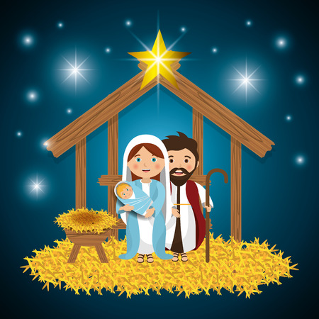 nativity background: Merry christmas cartoons, vector illustration graphic eps10