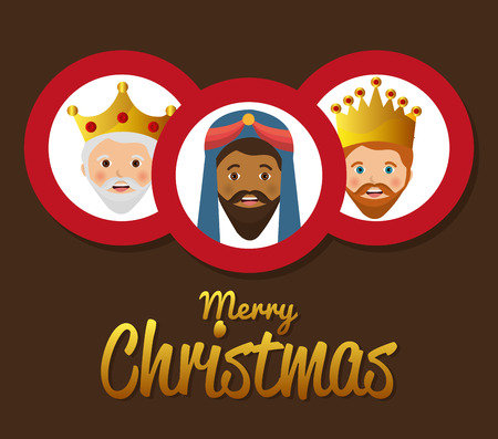 melchior: Merry christmas cartoons, vector illustration graphic eps10