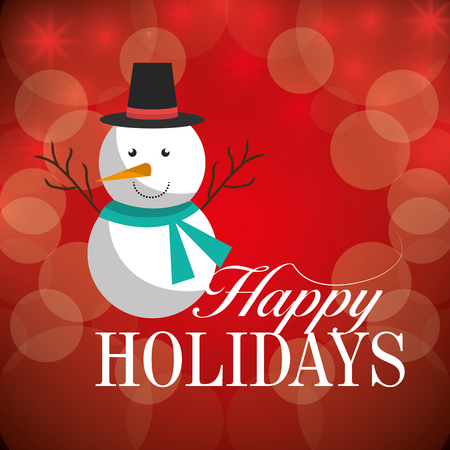 happy holidays: Happy holidays christmas season design, vector graphic.