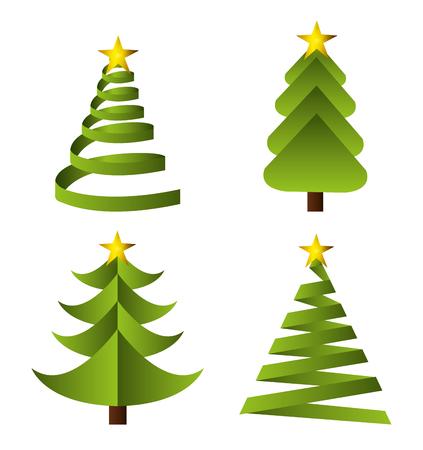 Buone vacanze di design stagione natalizia, grafica vettoriale.