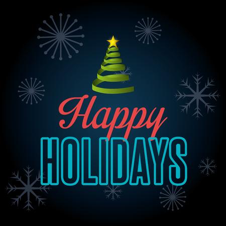 Progettazione felice di stagione di natale di feste, grafica vettoriale. Archivio Fotografico - 46851040