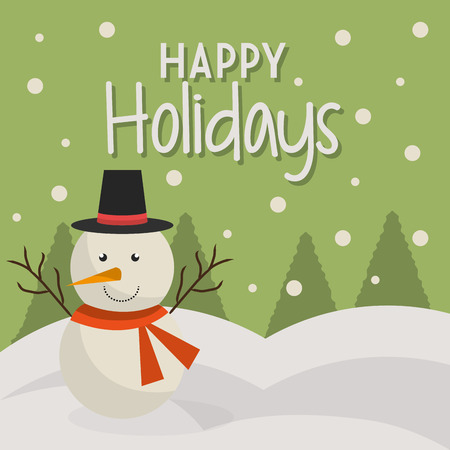 Happy holidays christmas season design, vector graphic.