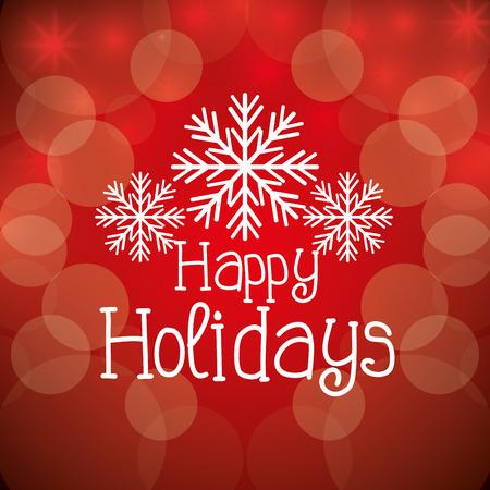 feliz: Felices fiestas diseño estación del navidad, gráfico de vector. Vectores