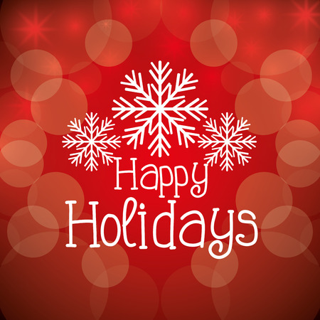 happy holidays text: Happy holidays christmas season design, vector graphic.