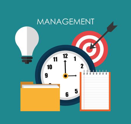 ビジネス管理とソリューション デザイン、ベクトル グラフィック。