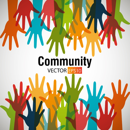 Community and people graphic design, vector illustration.
