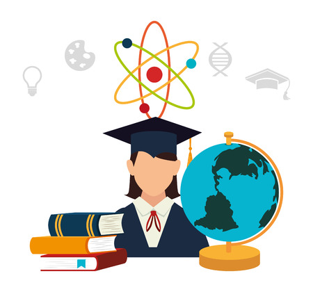 world class: Education and learning icons graphic design, vector illustration. Illustration