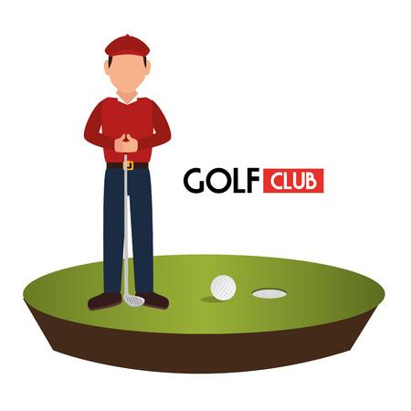 golf  ball: Deporte club de golf de diseño gráfico, ilustración vectorial eps10 Vectores