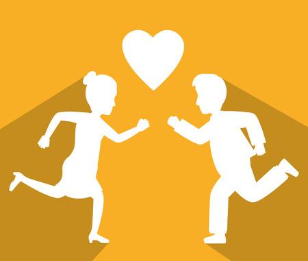 crush: Online love and crush graphic design, vector illustration