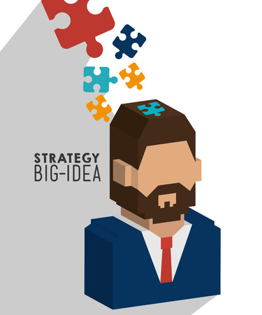 planificacion: Business strategy and planning graphic design, vector illustration.