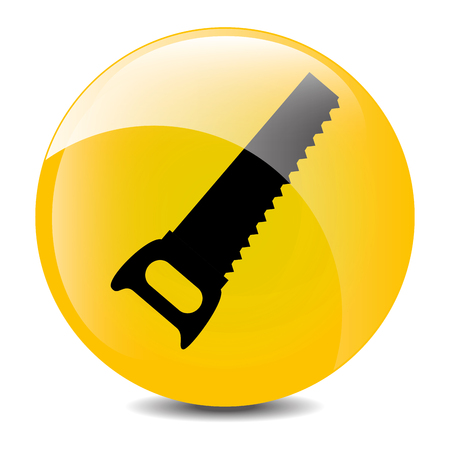 warning saw: Construction industry and tools graphic design, vector illustration