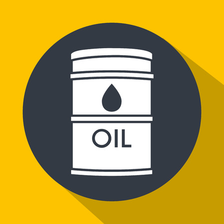 price development: Oil prices and industry graphic design, vector illustration Illustration