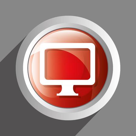 pc icon: PC icon symbol design, vector illustration graphic