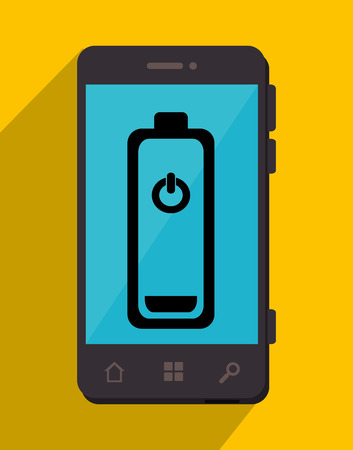 recharging: Smartphone Battery recharging graphic design, vector illustration. Illustration