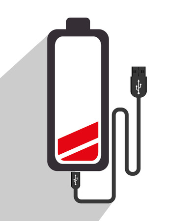 rechargeable: Smartphone Battery recharging graphic design, vector illustration. Illustration