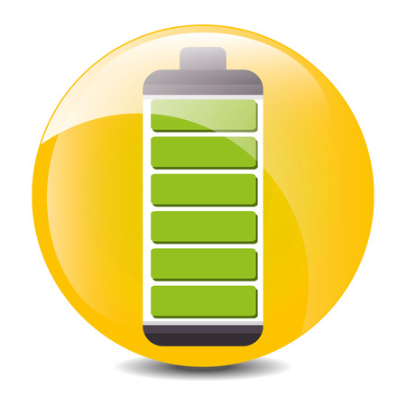 low battery: Low battery charging icon design