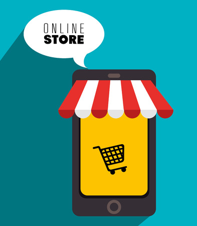 ecommerce icons: Marketing online and ecommerce sales design