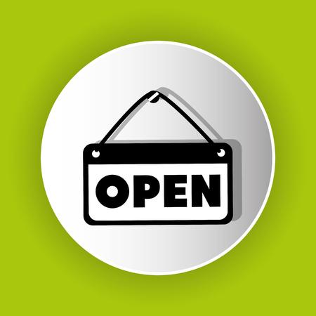 advert: open advert icon symbol design