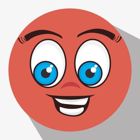 disappoint: Funny emoticon cartoon design, vector illustration graphic. Illustration
