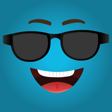 tease: Funny emoticon cartoon design, vector illustration graphic. Illustration