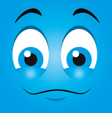 mouth smile: Funny emoticon cartoon design, vector illustration graphic. Illustration