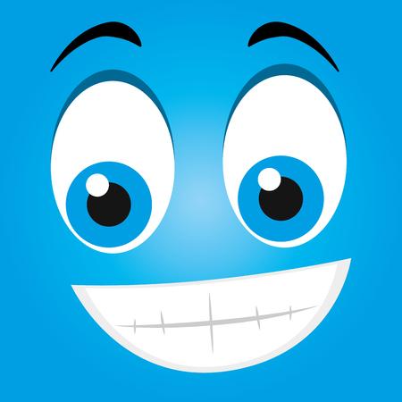 hapiness: Funny emoticon cartoon design, vector illustration graphic. Illustration