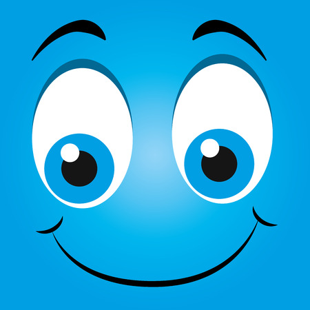 smile face: Funny emoticon cartoon design, vector illustration graphic. Illustration
