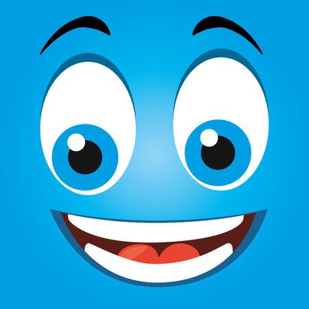 Funny emoticon cartoon design, vector illustration graphic. Vettoriali