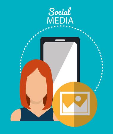 socialising: Social media cartoon graphic design, vector illustration