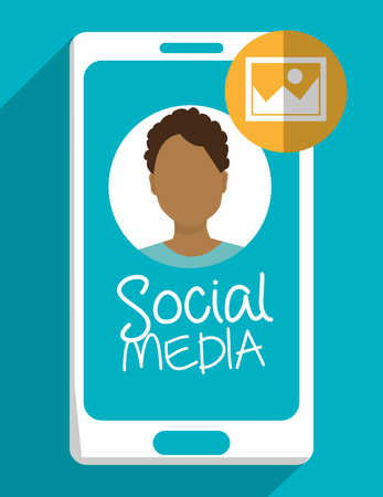 socializing: Social media cartoon graphic design, vector illustration