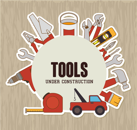 work tools: Construction and tools graphic design, vector illustration eps10.