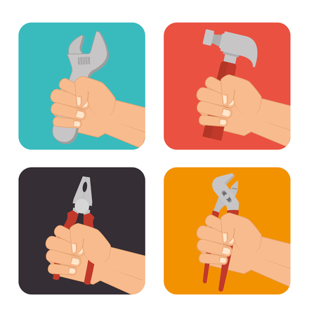 carpentry cartoon: Construction and tools graphic design, vector illustration eps10.
