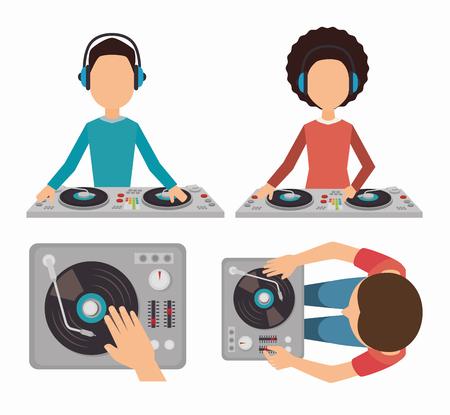 dj equipment: Music dj party theme design, vector illustration eps 10