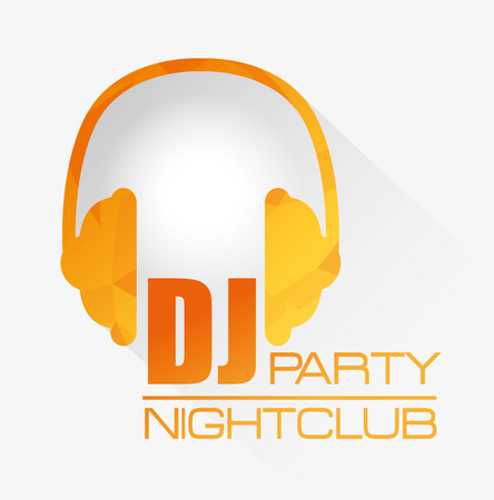 Music dj party theme design, vector illustration eps 10
