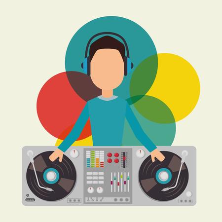 dj party: Music dj party theme design, vector illustration eps 10
