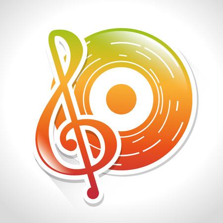 Music dj party theme design, vector illustration eps 10