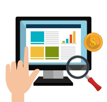 sep: Online advertising and digital marketing, vector illustration eps10.